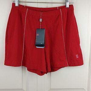Nike Red Dri-fit Shorts Side Pockets M NWT